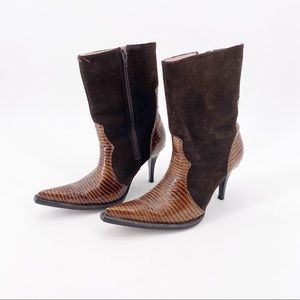 Jar Boots Womens Size 7 Leather Suede Heeled Boots